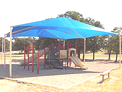 double hip shade structure