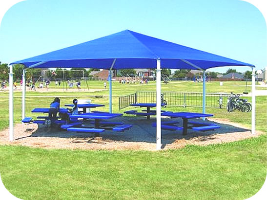 hexagon shade structures