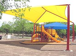 jumbo yellow square shade structure