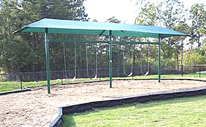 swing set with shade canopy