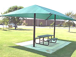 2 post shade structures