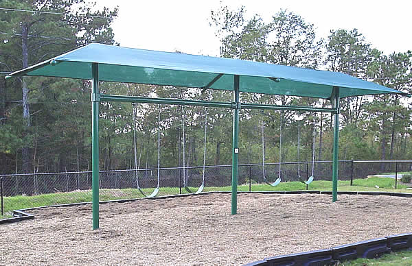 swing sets with shade structures